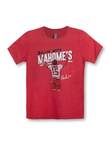 "Texas Tech Red Raiders ""Rollin' With Mahomes"" YOUTH T-Shirt (PREORDER SHIPS 12/13)"