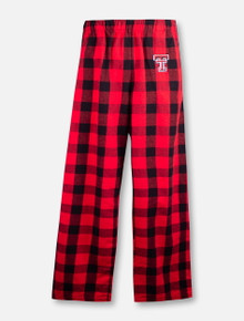 Texas Tech Red Raiders Double T  YOUTH Plaid Flannel Pajama Pants