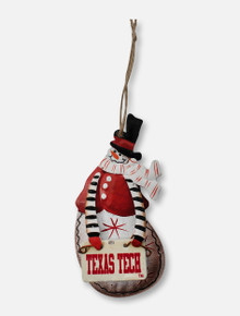Texas Tech Red Raiders Snowman with Sign Ornament