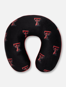 Texas Tech Red Raiders Memory Foam Travel Pillow with Repeating Double T