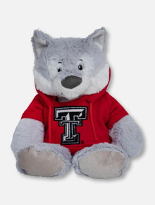 """Texas Tech Red Raiders Wolf """"Snugglerz""""  with Double T Hoodie Plush Toy"""