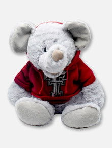"""Texas Tech Red Raiders Elephant """"Snugglerz"""" with Double T Hoodie Plush Toy"""