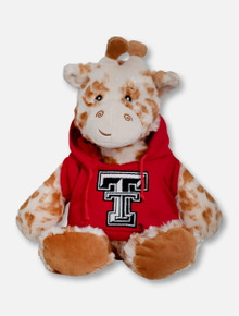 "Texas Tech Red Raiders Giraffe with Double T Hoodie ""Snugglerz"" Plush Toy"