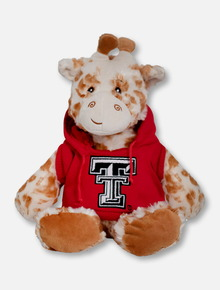 "Texas Tech Red Raiders Giraffe with Double T Hoodie ""Snugglerz"" Plush Toy"