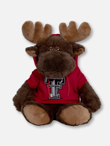 """Texas Tech Red Raiders Moose """"Snugglerz"""" with Double T Hoodie Plush Toy"""