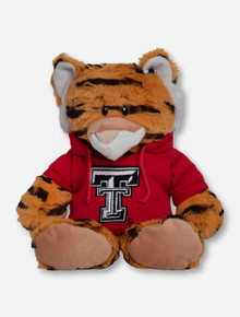 """Texas Tech Red Raiders Tiger """"Snugglerz"""" with Double T Hoodie Plush Toy"""
