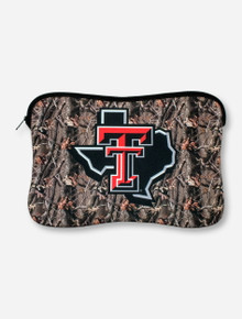 Texas Tech Lone Star Pride on Camo Neoprene Laptop Case