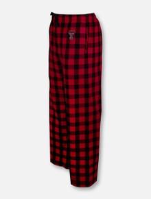 Texas Tech Red Raiders Double T Red Buffalo Plaid Flannel Pajama Pants