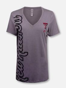"Under Armour Women Texas Tech Red Raiders ""Sideways"" V Neck T-Shirt"