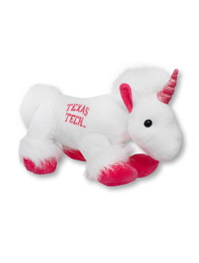 Texas Tech Red Raiders White Plush Unicorn Toy