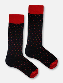 Texas Tech Red Raiders Polka Dot Dress Socks