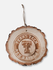 Jenkins Texas Tech Red Raiders Double T Etched Tree Stump Wooden Ornament