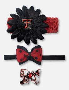 Texas Tech Red Raiders Crochet Headband Gift Set