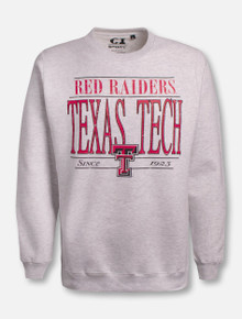 "Texas Tech Red Raiders ""Late To Class"" Classic Crew Sweatshirt"