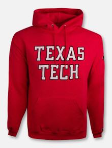"Champion Red Raiders ""Rugged Football Font"" Hoodie"