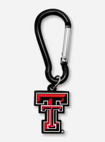 """Texas Tech Red Raiders Double T """"Carabiner"""" Keychain"""