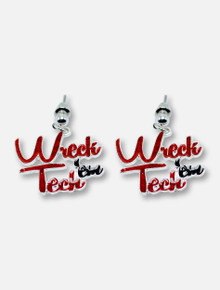 "Texas Tech Red Raiders ""Wreck Em"" Earrings"