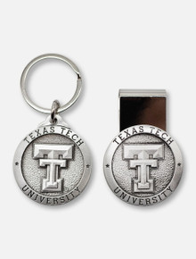 Texas Tech Red Raiders Double T Mens Gift Set with Money Clip and Keychain