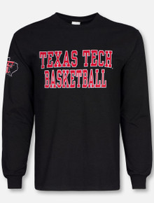 Texas Tech Red Raideres Basketball Stack Lone Star Pride Edition Long Sleeve T-Shirt