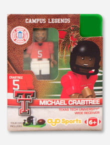 Texas Tech Lego Compatible #5 Michael Crabtree Minifigure