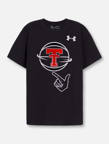 "Under Armour Texas Tech Red Raiders ""Guns Up Spin""YOUTH Short Sleeve T-Shirt"