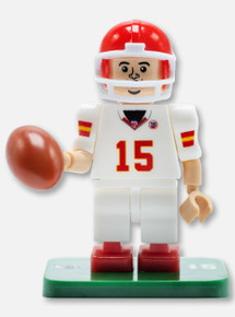 Texas Tech Red Raiders Lego Compatible Kansas City Chiefs Pat Mahomes #15 in White Jersey Collectible Mini Figurine