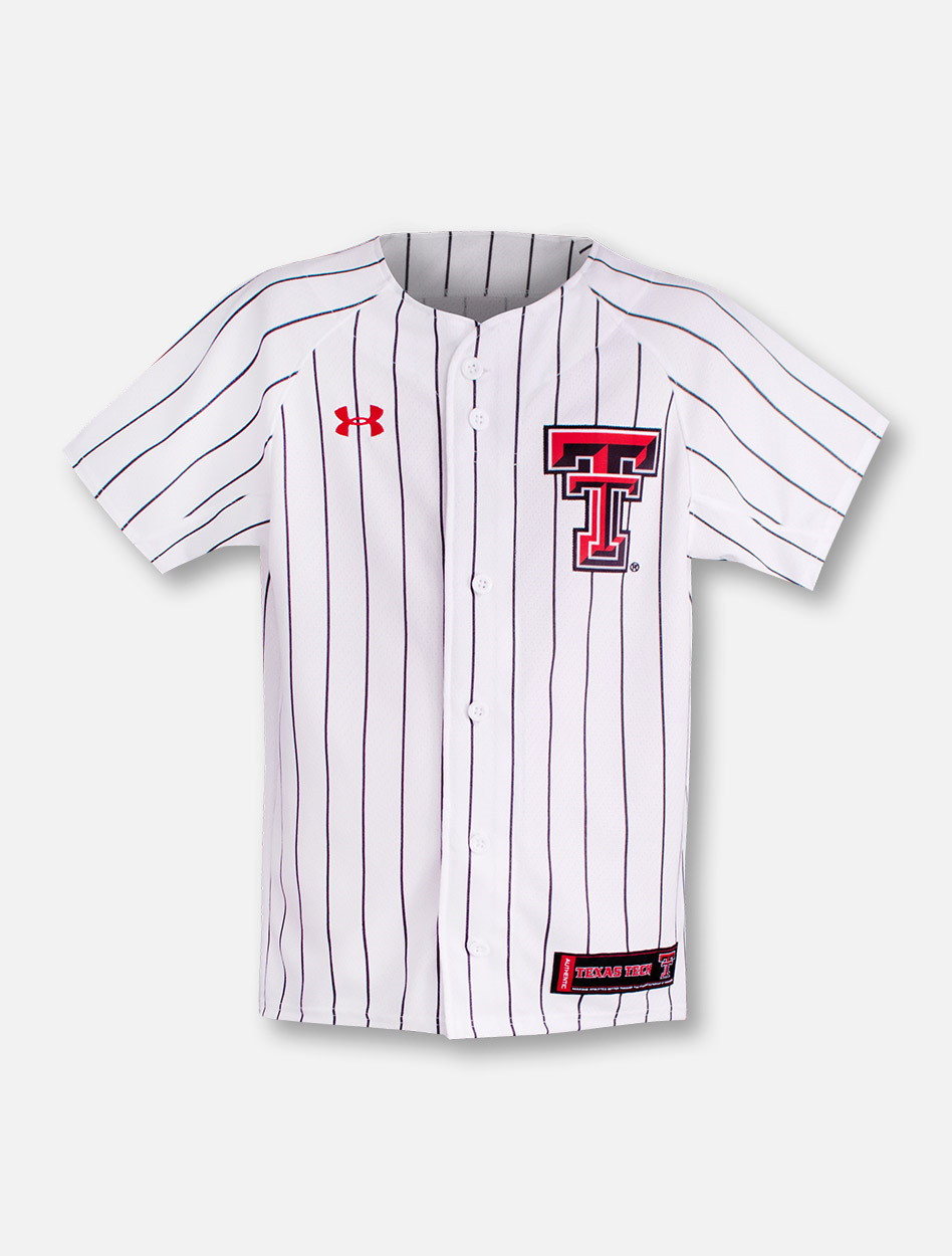 big sale bfeee 0c769 Under Armour Texas Tech Red Raiders YOUTH Baseball Jersey