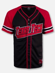 "Arena Texas Tech Red Raiders Double T ""Wallis"" Baseball Jersey"