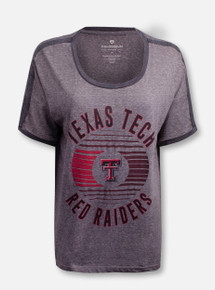 "Arena Texas Tech Red Raiders Double T ""Carpi"" Boyfriend Ringer T-Shirt"