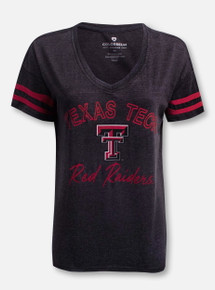 "Arena Texas Tech Red Raiders Double T ""Savona"" V-Neck T-Shirt"