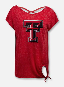 "Arena Texas Tech Red Raiders Double T ""Como"" Tie Front T-Shirt"