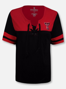 """Arena Texas Tech Red Raiders Double T """"Naples"""" Lace Up T-Shirt"""
