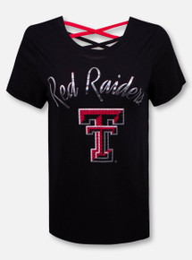 "Arena Texas Tech Red Raiders Double T ""Milan"" Strappy T-Shirt"