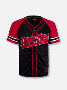 "Arena Texas Tech Red Raiders Double T YOUTH ""Wallis"" Baseball Jersey"