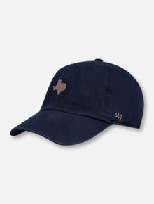 "47 Brand Texas Tech Metallic ""Centerfield"" Clean Up Navy Adjustable Cap"
