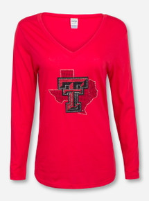 Summit Texas Tech Bling Red Lone Star Pride Long Sleeve
