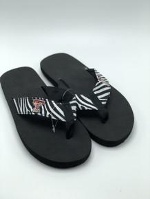 Texas Tech Red Raiders Zebra YOUTH  Flip Flops