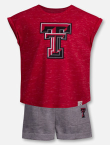 "Arena Texas Tech Red Raiders Double T ""Essen"" TODDLER Shirt and Short Set"