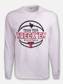 Champion Texas Tech Red Raiders Wreck 'Em Basketball Long Sleeve T-Shirt