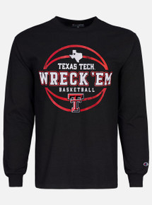 Champion Texas Tech Red Raiders Wreck 'Em Basketball Long Sleeve T-Shirt
