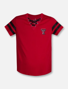 """Arena Texas Tech Red Raiders Double T """"Wels"""" YOUTH Lace Up T-Shirt"""