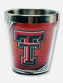 Texas Tech Red Raiders Double T with Masked Rider Shot Glass