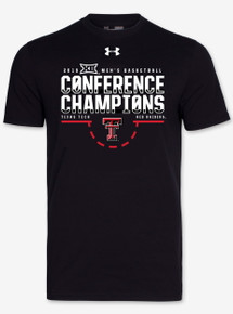 Black Short Sleeve Under Armour Texas Tech Basketball  Big 12 Championship Team Issue
