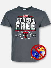 "Texas Tech Basketball ""Streak Free"" Big 12 Championship Grey T-Shirt"