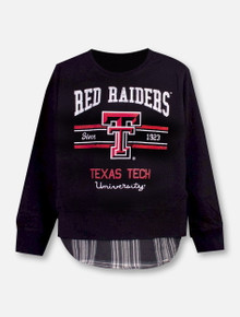 "Garb Texas Tech Red Raiders Double T ""Faux Layer"" TODDLER Sweatshirt"