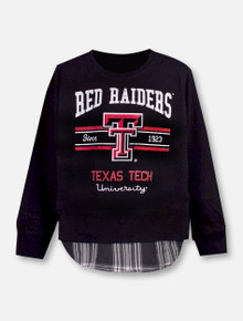 "Garb Texas Tech Red Raiders Double T ""Faux Layer"" YOUTH Sweatshirt"