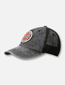 "Legacy Texas Tech Red Raiders Double T "" Stone Washed"" Mesh Snapback Cap"