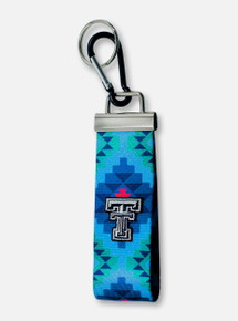 "Texas Tech Red Raiders Double T ""Santa Fe"" Wrist Key Fob"