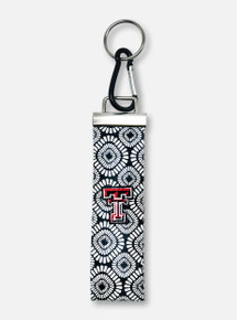 "Texas Tech Red Raiders Double T ""Bursts"" Wrist Key Fob"