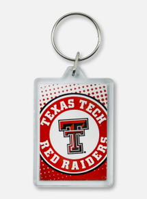 Texas Tech Red Raiders Double T Dotted Keychain
